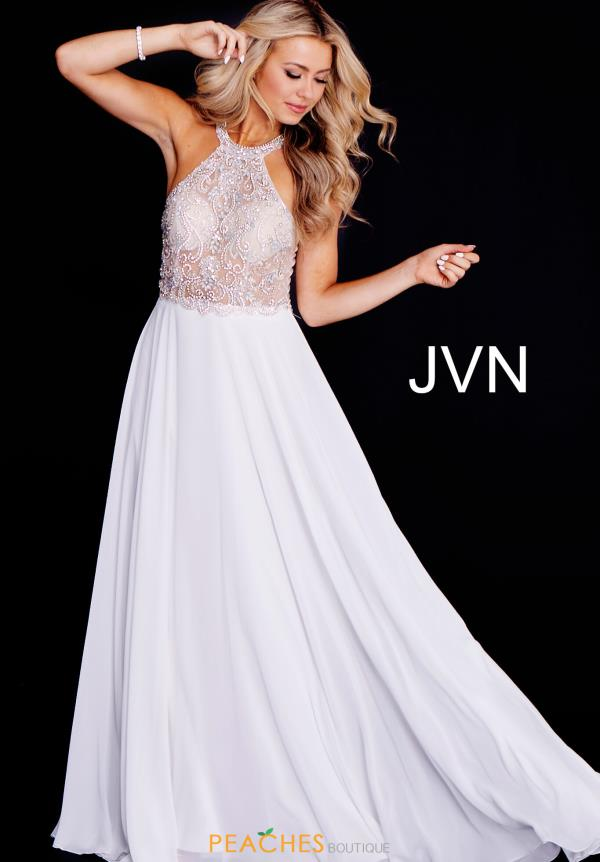 JVN by Jovani A Line Chiffon Dress JVN50064