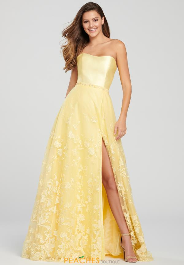 Ellie Wilde Full Figured Strapless Dress EW119007