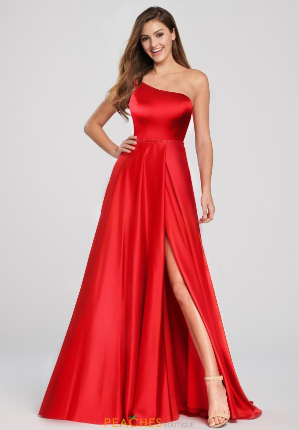Ellie Wilde Single Shoulder Satin Dress EW119049A