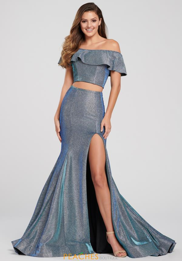 Ellie Wilde Two Piece Long Dress EW119063