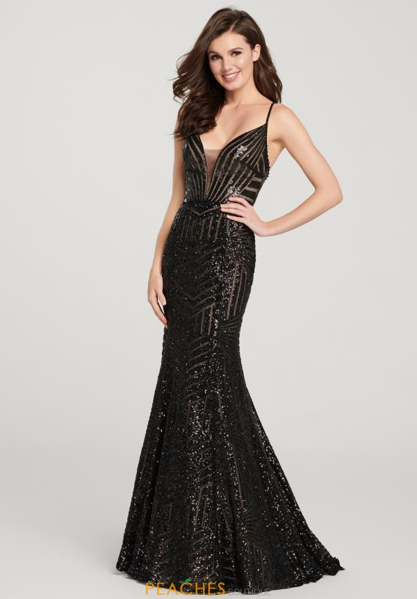 Ellie Wilde V-Neck Sequins Dress EW119178