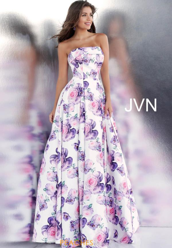 JVN by Jovani Long Print Dress JVN67999