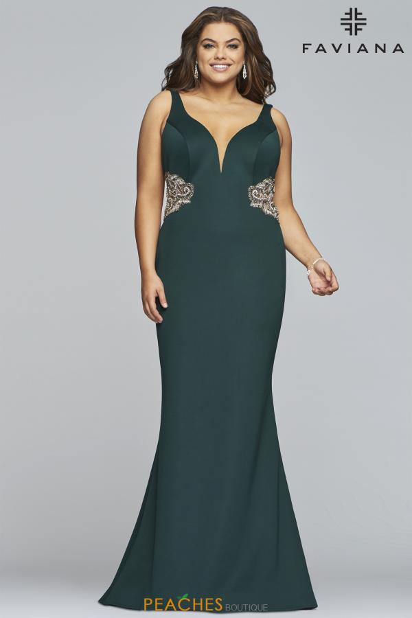 Faviana Plus Size Fitted Dress 9448