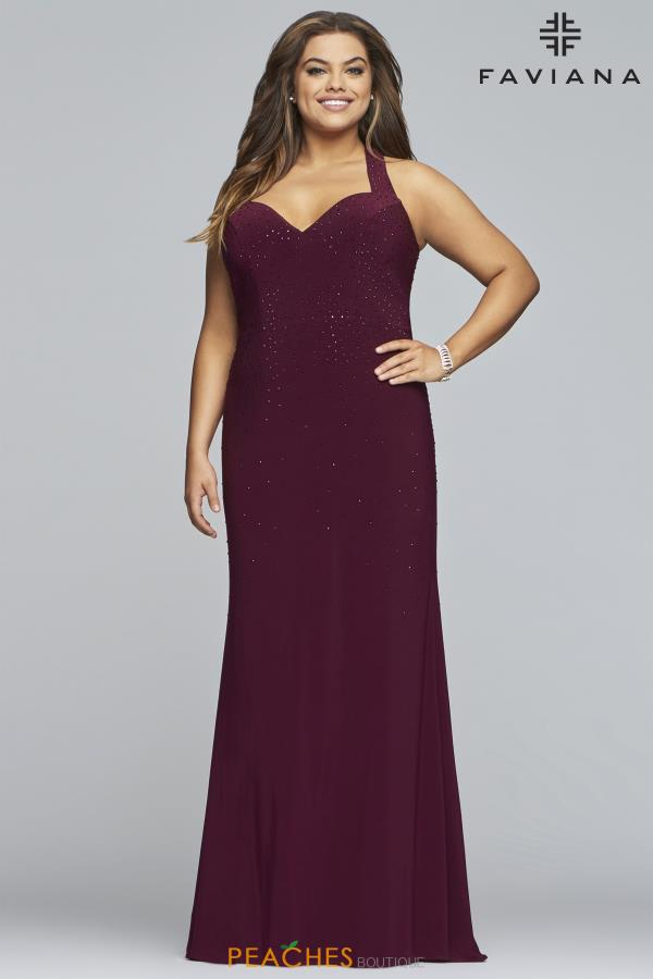 Faviana Plus Size Fitted Dress 9458