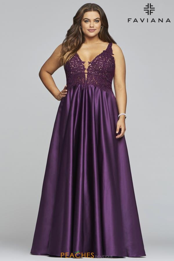 Faviana Plus Size A-Line Dress 9462
