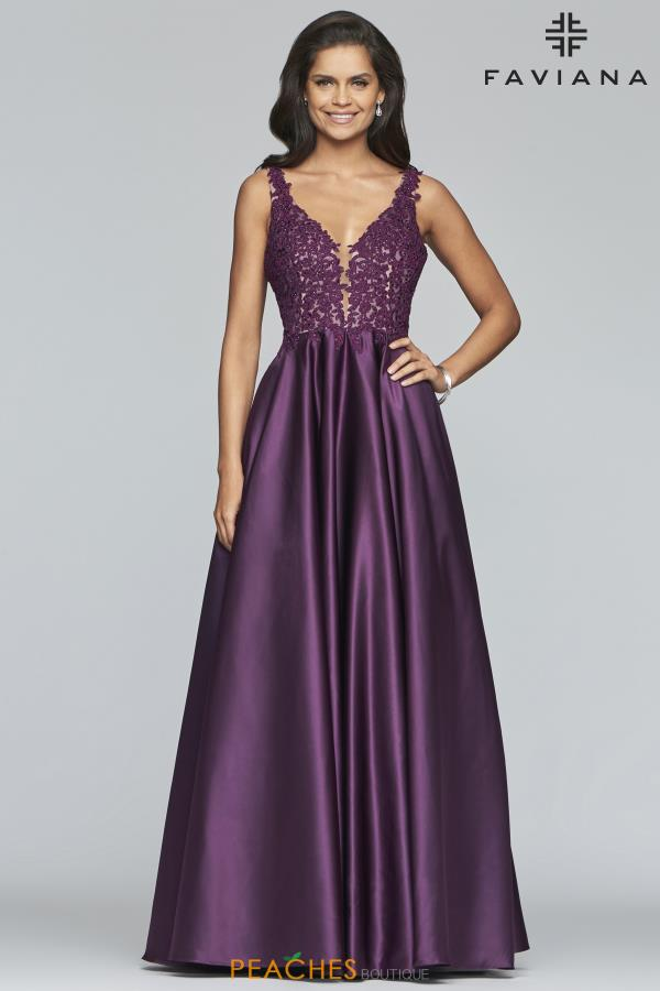 Faviana Sophisticated Satin A-Line Dress 10251