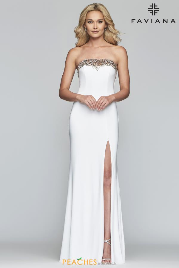 Faviana Strapless Jersey Dress S10200