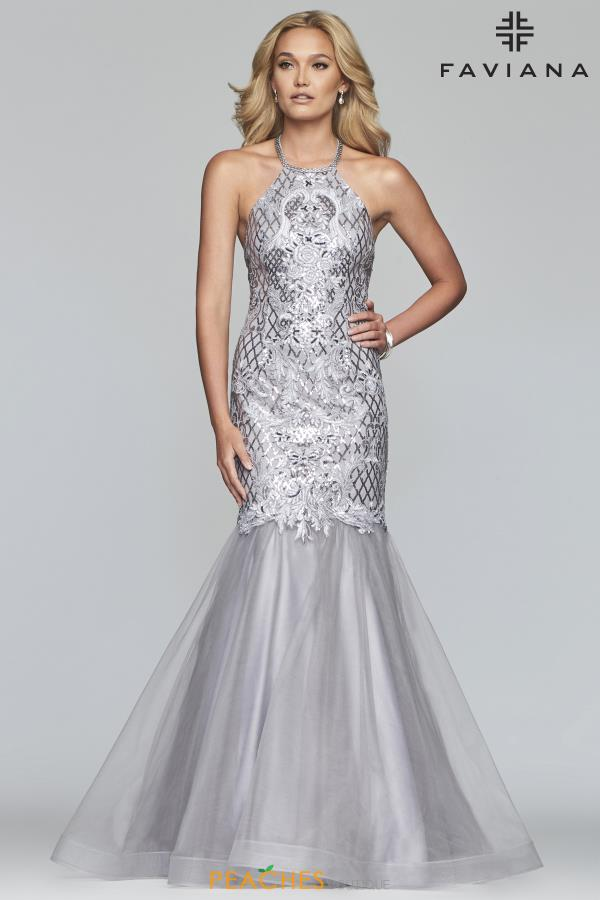 Faviana High Neck Mermaid Gown S10221