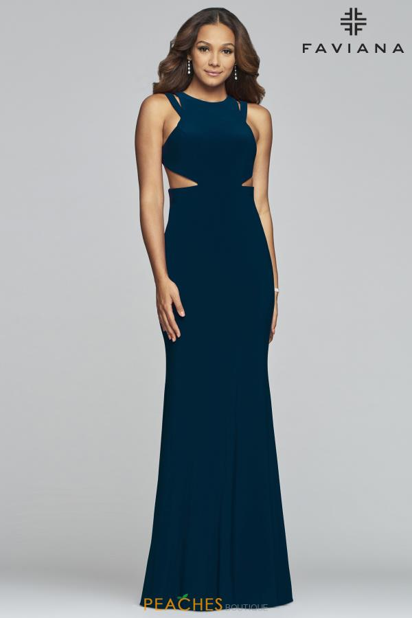 Faviana Fitted Jersey Dress S10224