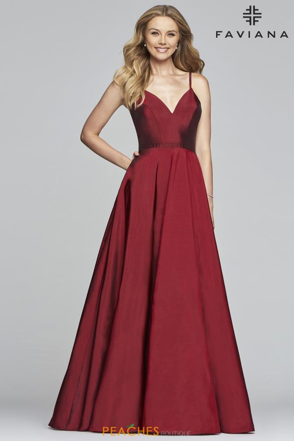 Faviana Taffeta A-Line Dress S10249