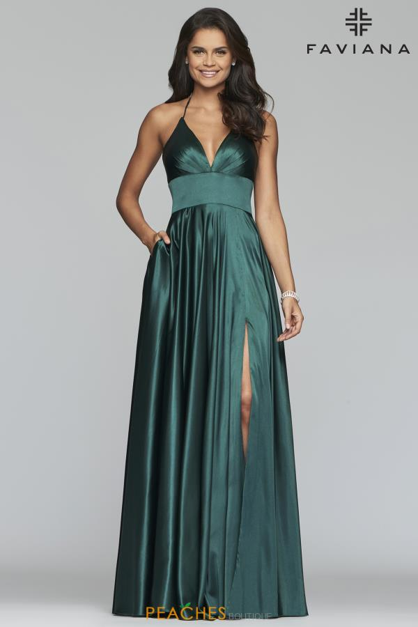 Faviana Flowing Satin Dress S10255