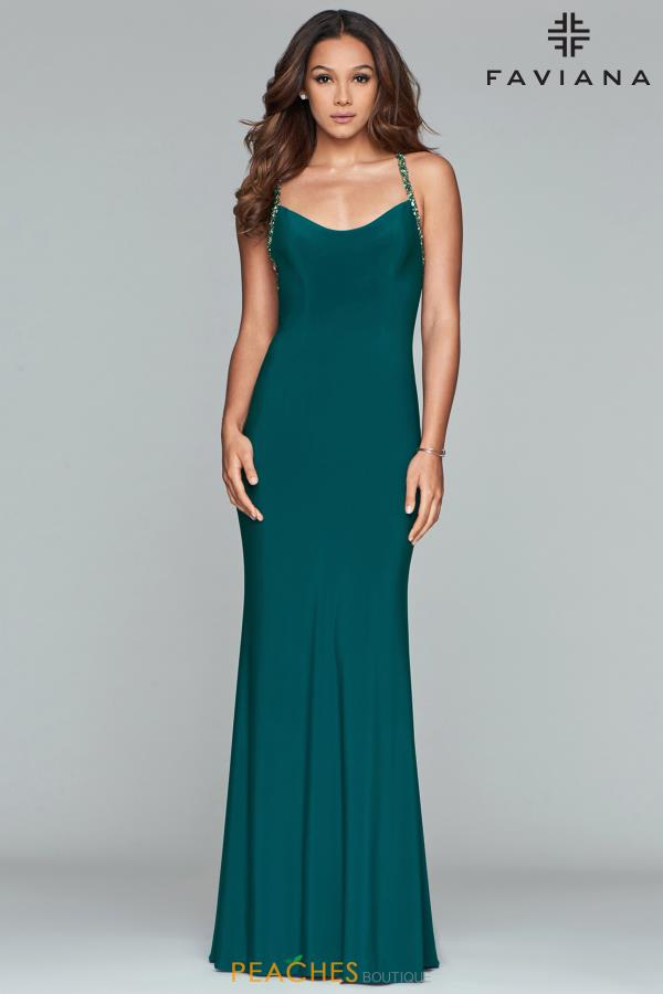 Faviana Open Back Fitted Dress S10268