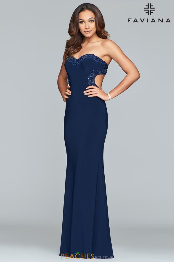 Faviana Strapless Fitted Dress S10271