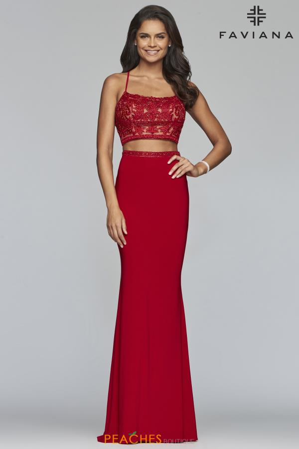 Faviana Two Piece Fitted Dress S10272