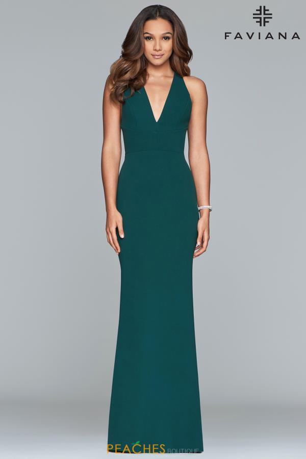 Faviana Long Fitted Dress S10287