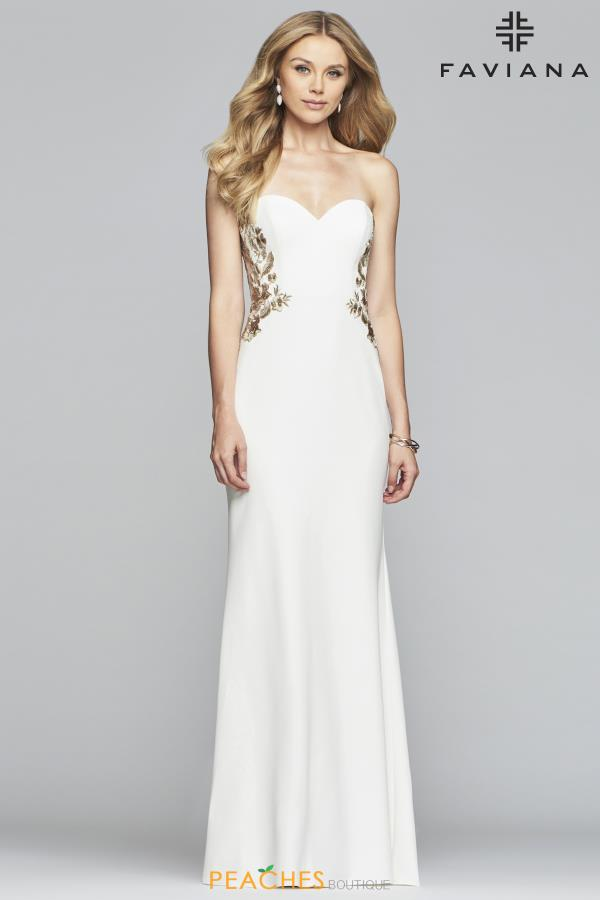 Faviana Strapless Fitted Dress S10304