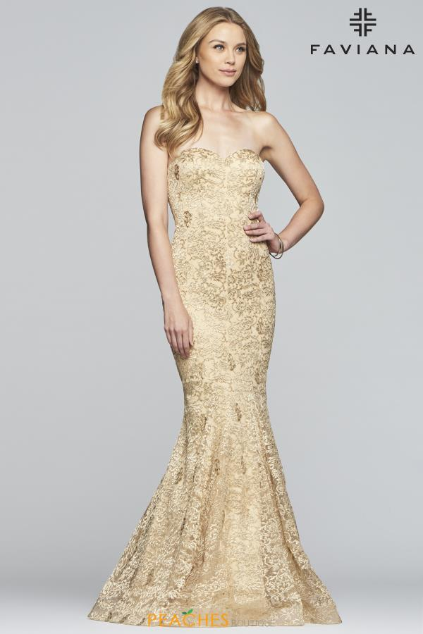 Faviana Strapless Fitted Dress S10305