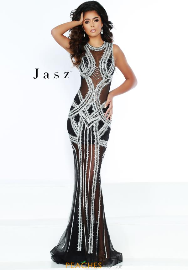 Jasz Couture Long Beaded Dress 6400