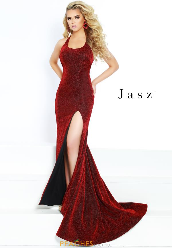 Jasz Couture Long Fitted Dress 6412
