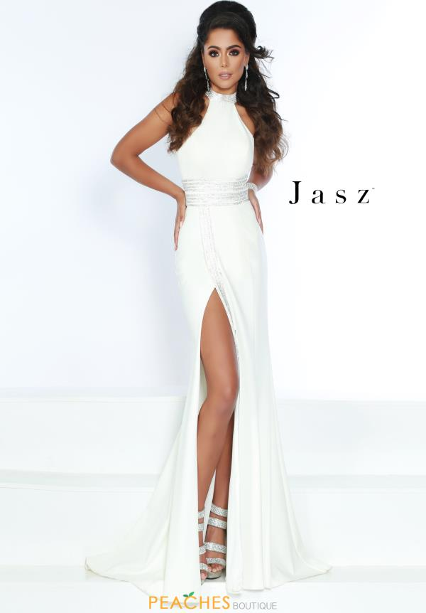 Jasz Couture Long Fitted Dress 6417