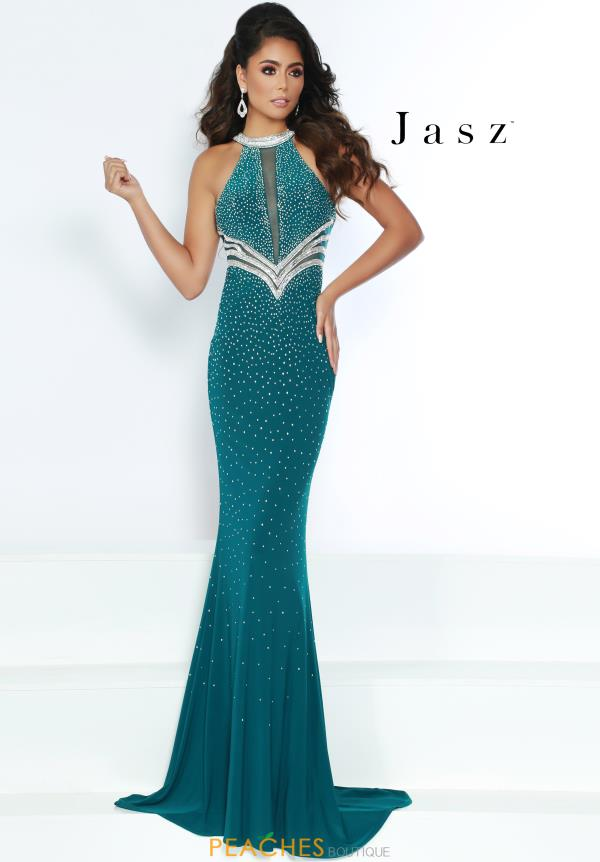 Jasz Couture Long Beaded Dress 6420