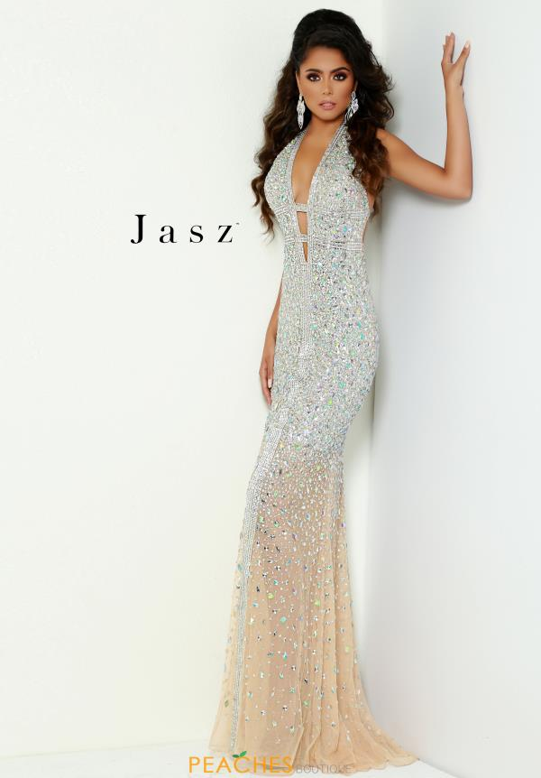 Jasz Couture Long Beaded Dress 6425