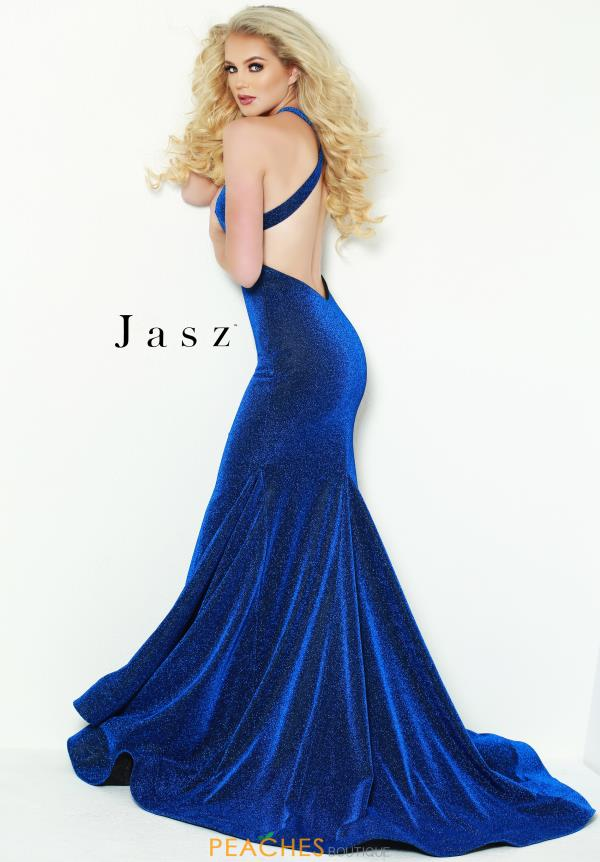 Jasz Couture Long Fitted Dress 6433