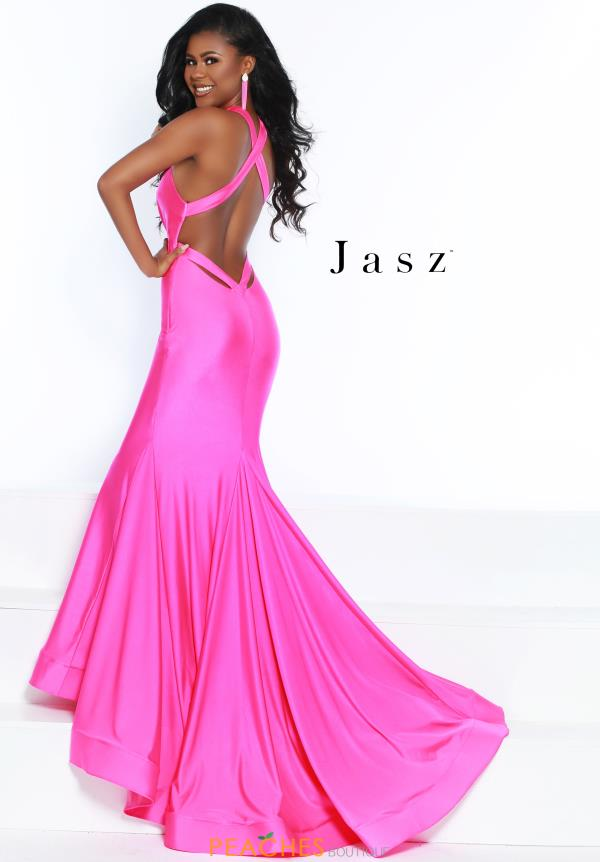 Jasz Couture Long Fitted Dress 6439