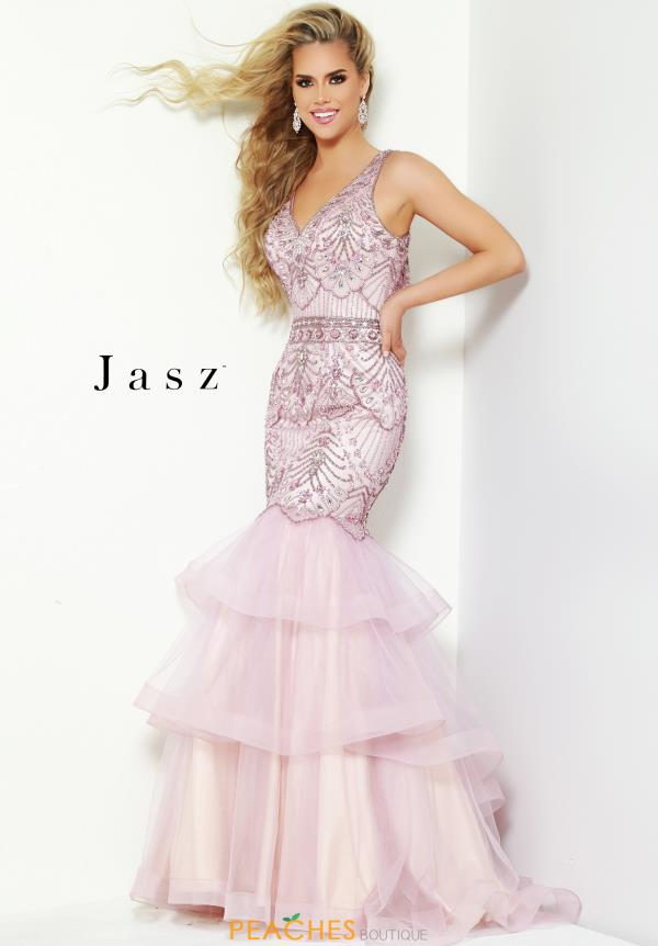 Jasz Couture Long Beaded Dress 6443