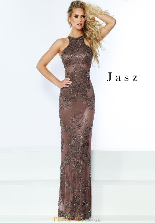 Jasz Couture Long Fitted Dress 6446