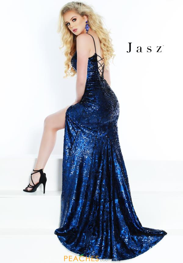 Jasz Couture Long Sequins Dress 6448