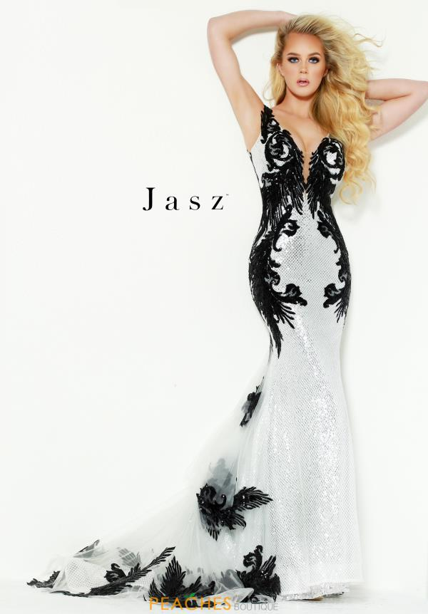 Jasz Couture Long Fitted Dress 6450