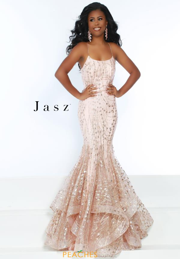 Jasz Couture Long Lace Dress 6457