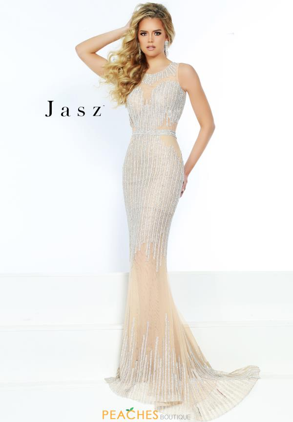 Jasz Couture Long Beaded Dress 6468