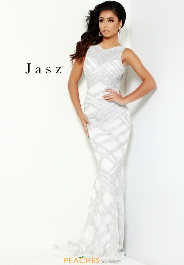 Jasz Couture Long Fitted Dress 6472