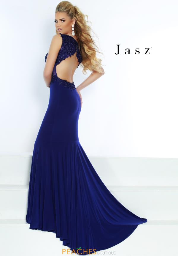 Jasz Couture Open Back Fitted Dress 6474