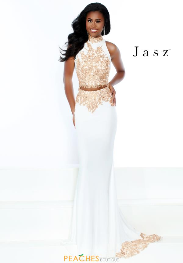 Jasz Couture Long Fitted Dress 6476