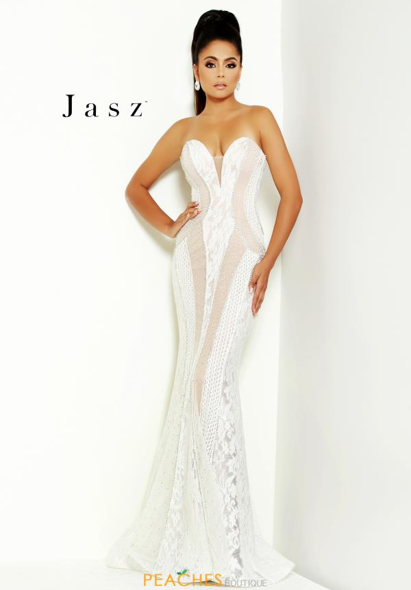 Jasz Couture Strapless Long Dress 6478