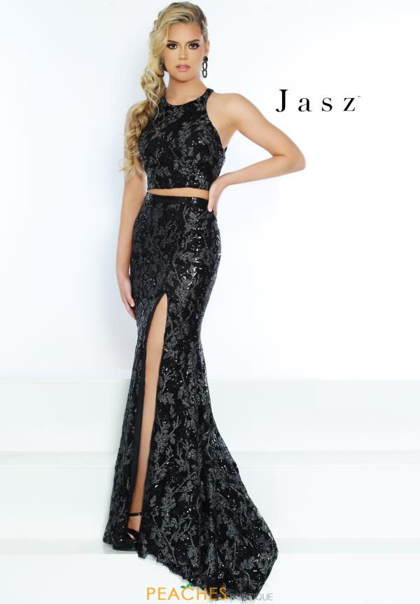 Jasz Couture Two Piece Black Dress 6488