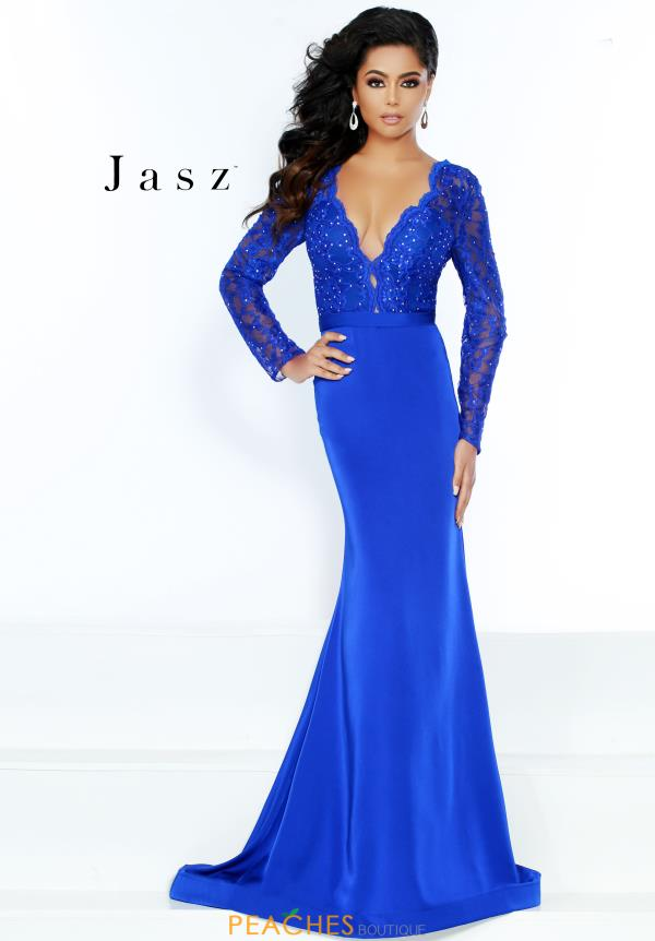 Jasz Couture Sleeved Fitted Dress 6496