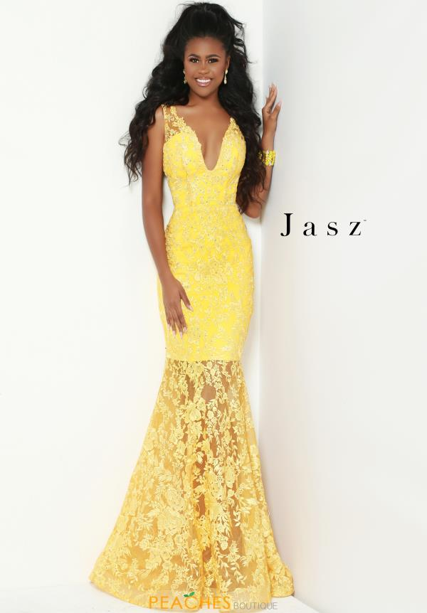 Jasz Couture Long Lace Dress 6502