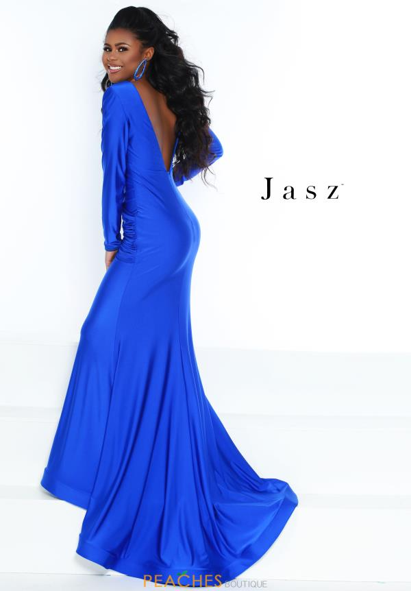 Jasz Couture Sleeved Fitted Dress 6504