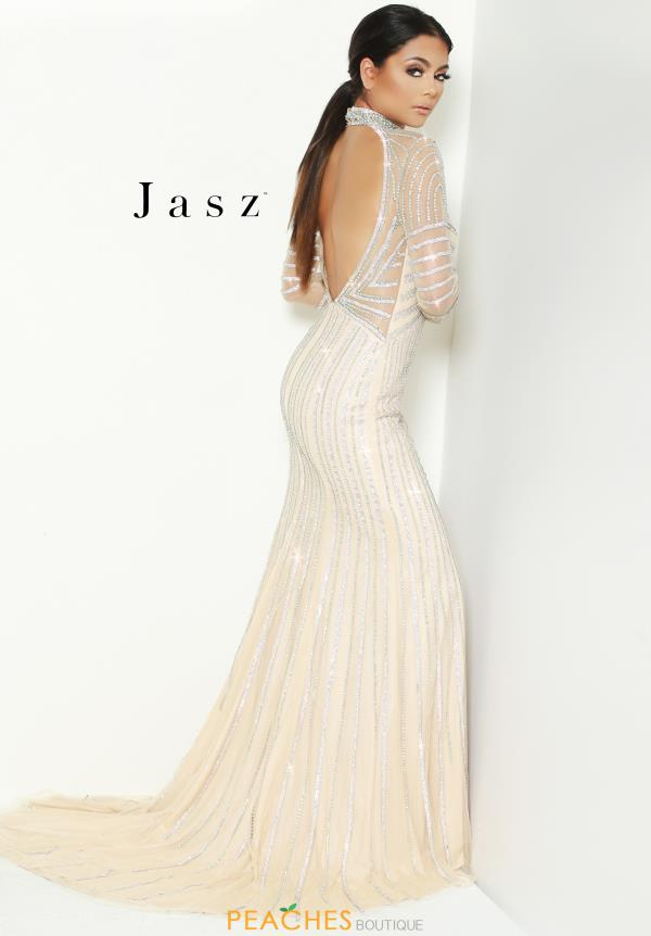 Jasz Couture Long Beaded Dress 6517