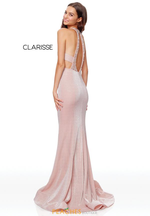Clarisse Sexy Back Fitted Dress 3711
