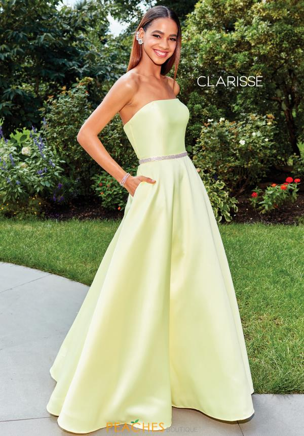 Clarisse Strapless Full Figured Dress 3739