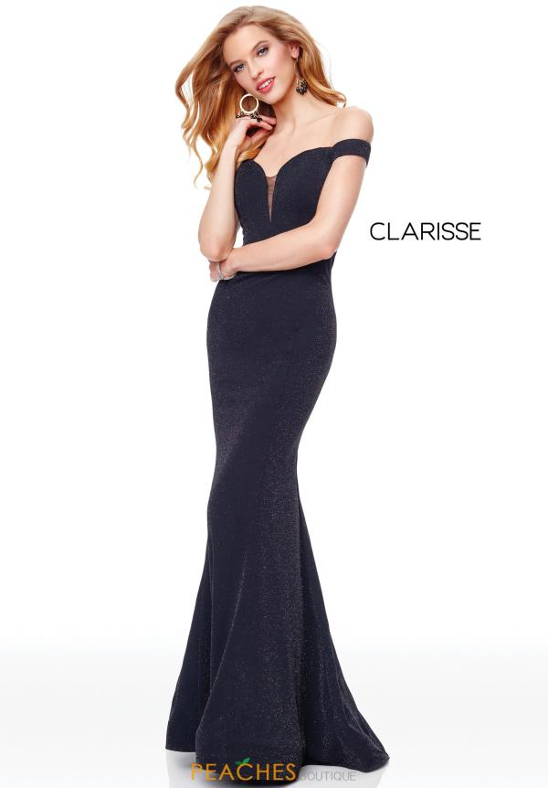 Clarisse Off the Shoulder Fitted Dress 3788