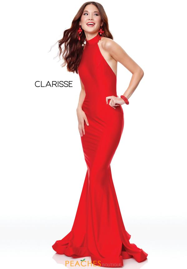 Clarisse Halter Fitted Dress 3842