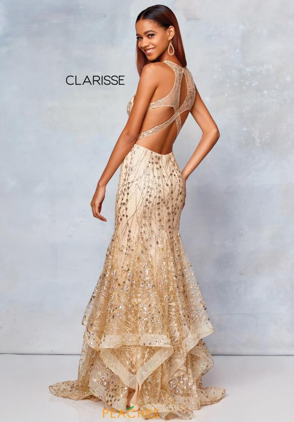 Clarisse Open Back Mermaid Dress 3862