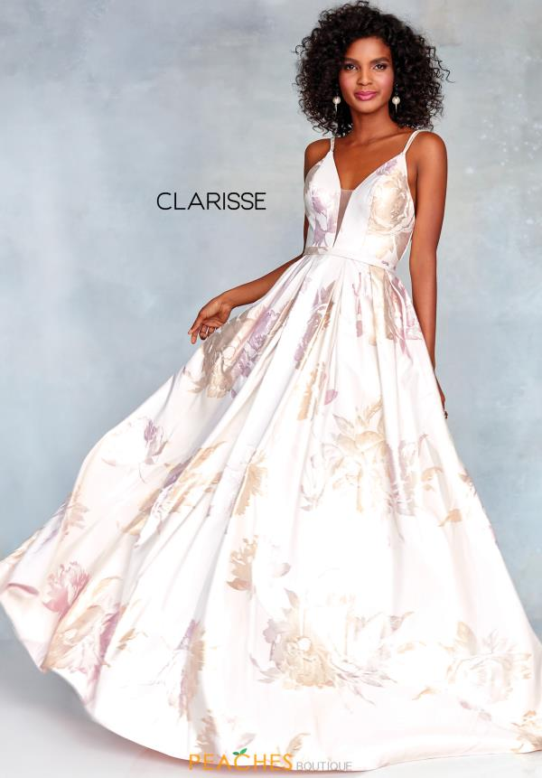 Clarisse V-Neck Brocade Dress 3867