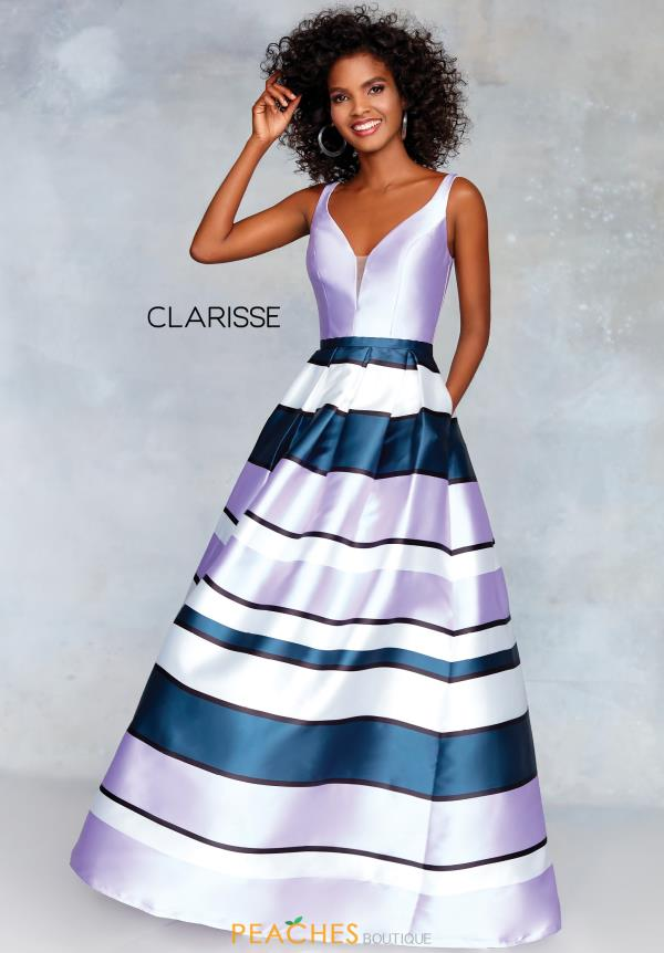 Clarisse V-Neck Mikado Dress 3878